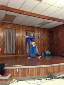Joseline Beaulieu, sabre dancing to raise money for Child Haven